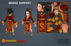 3d geisha character
