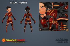 3d ninja character