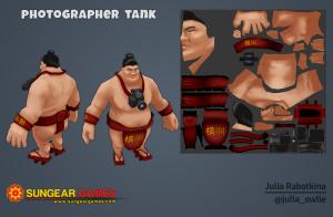 3d sumoman character