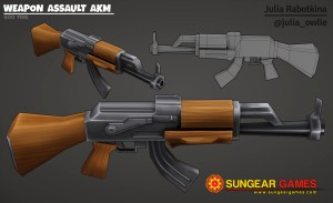 Texture weapon assault akm logo