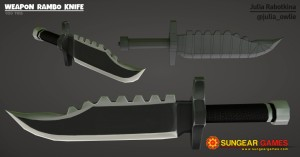 Texture weapon rambo knife logo